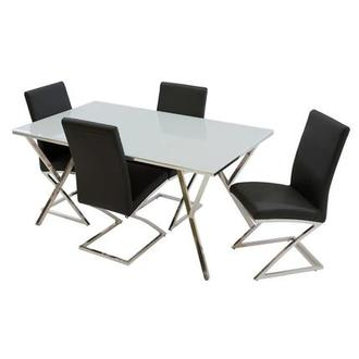 Jade Black 5-Piece Dining Set