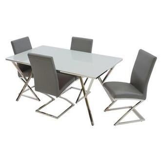 Jade Gray 5-Piece Casual Dining Set