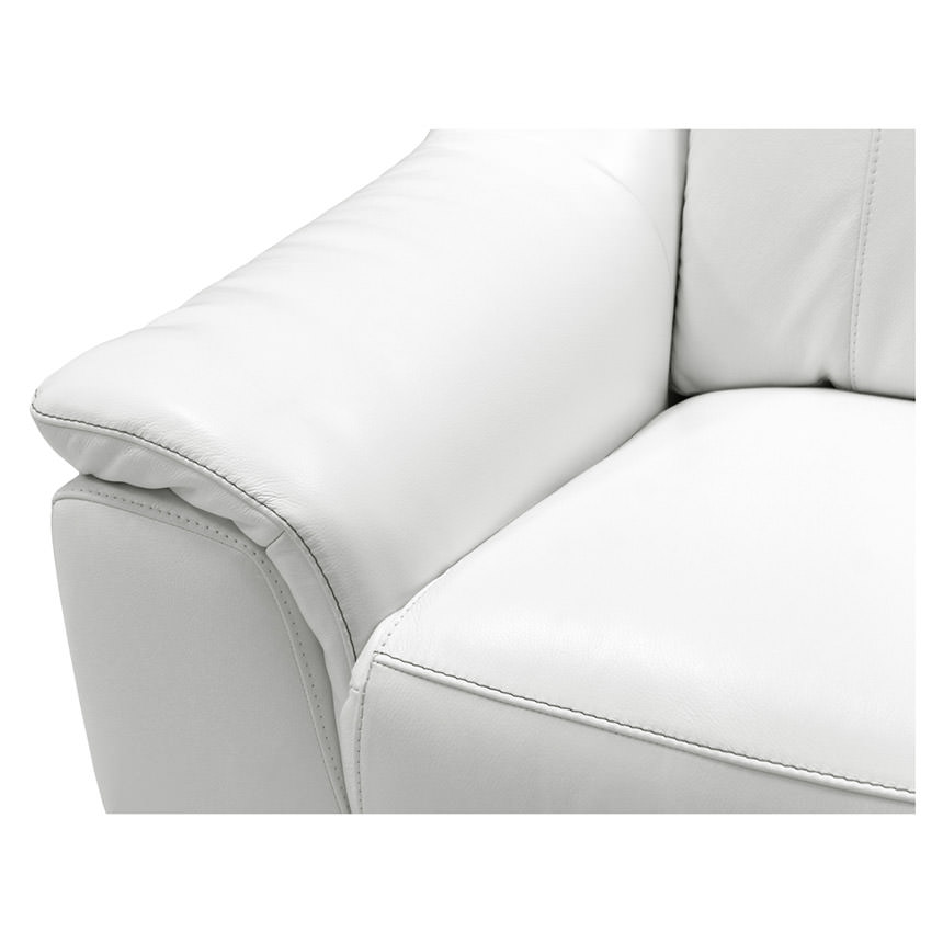 Davis White Power Motion Leather Recliner  alternate image, 8 of 10 images.