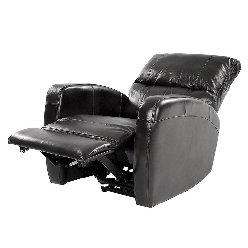 Keegan Black Power Motion Leather Recliner  alternate image, 4 of 8 images.