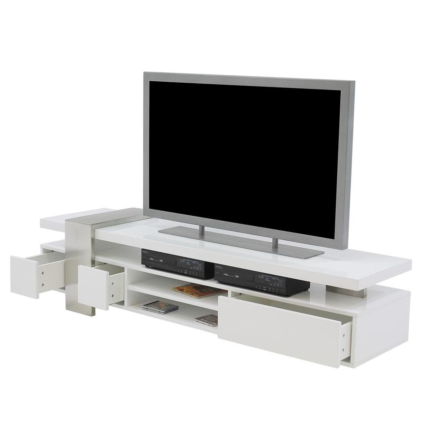 Totem White TV Stand  alternate image, 3 of 6 images.
