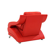 Jedda Red Leather Chair  alternate image, 3 of 5 images.