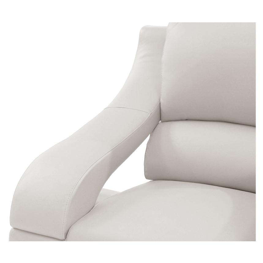 Jedda White Leather Chair  alternate image, 4 of 6 images.