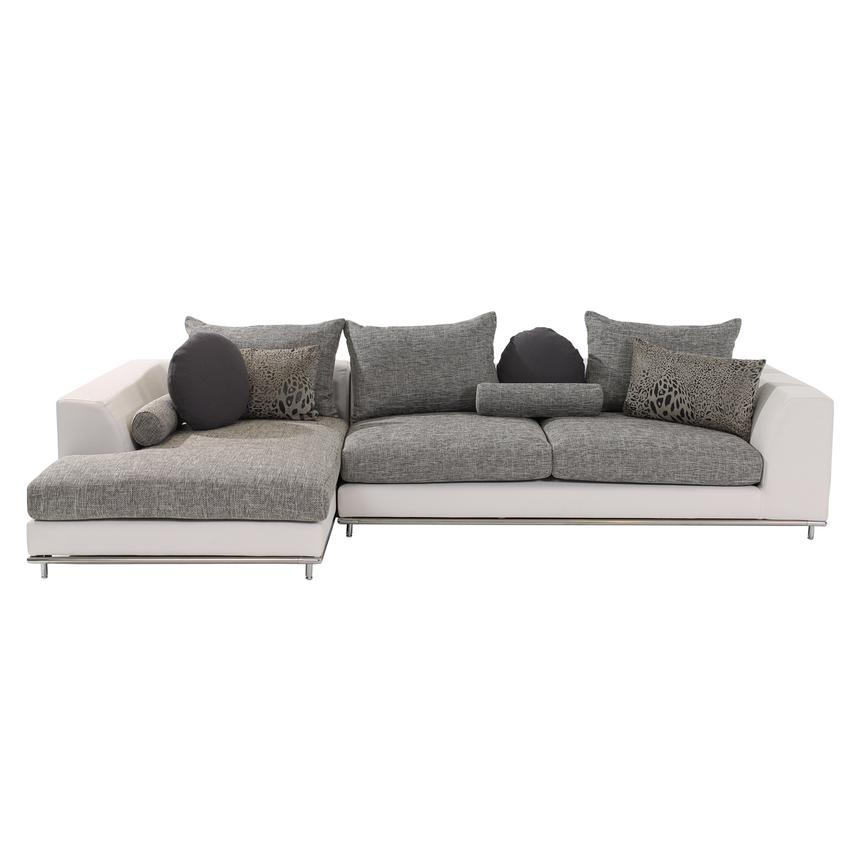 Hanna Sectional Sofa w/Left Chaise  alternate image, 3 of 6 images.