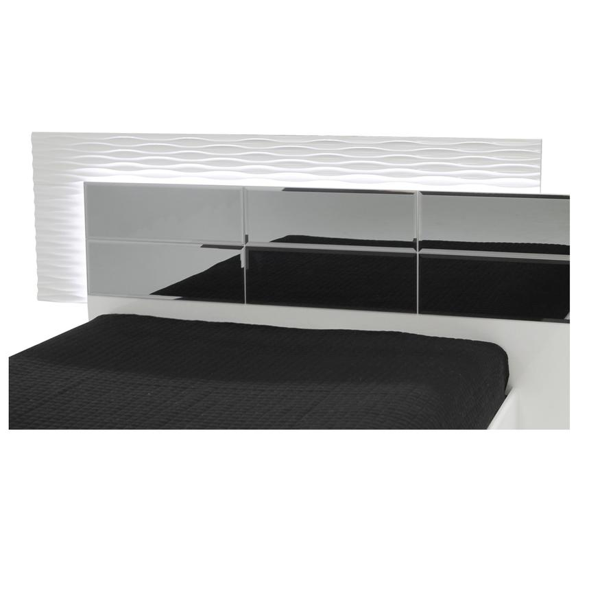 Manhattan White Mirrored Queen Platform Bed  alternate image, 4 of 4 images.
