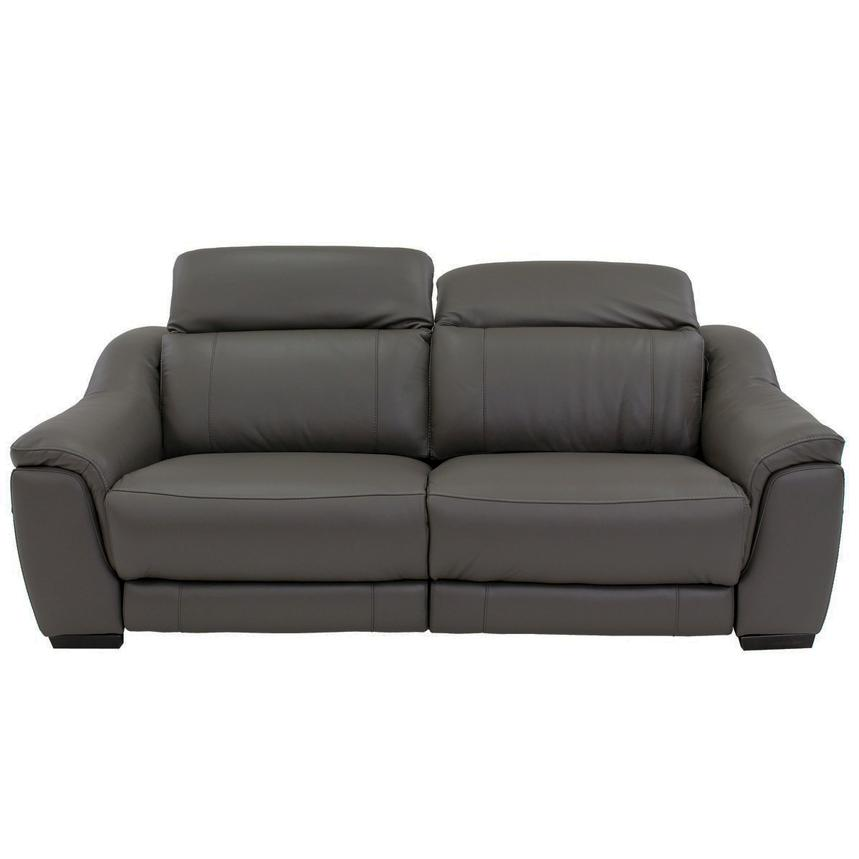 Davis Gray Power Motion Leather Sofa  alternate image, 4 of 10 images.