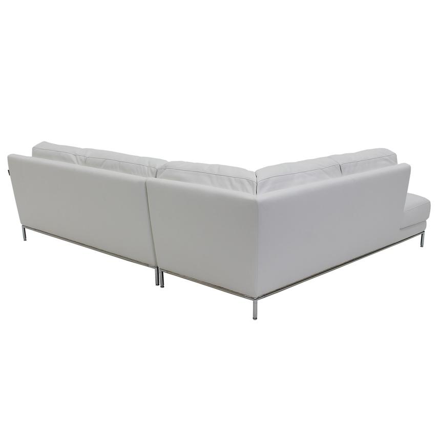 Cantrall White Sofa w/Left Chaise  alternate image, 3 of 6 images.