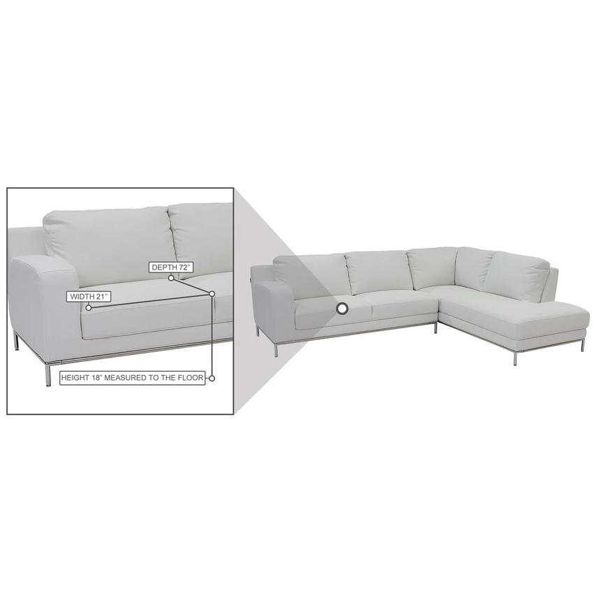 Cantrall White Corner Sofa w/Right Chaise  alternate image, 8 of 9 images.