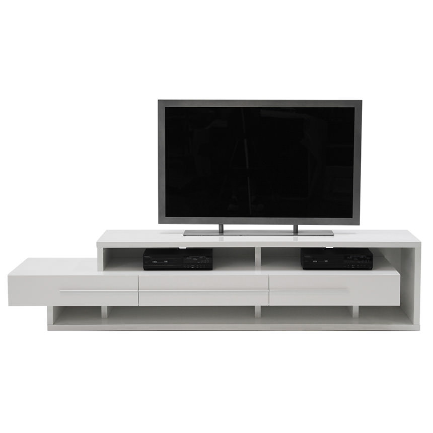 Avanti White TV Stand  alternate image, 3 of 5 images.