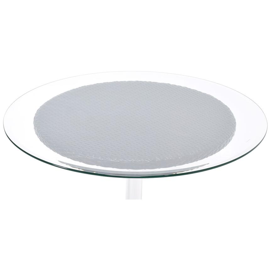 Gerald Gray Round Dining Table w/10mm Glass Top  alternate image, 3 of 4 images.