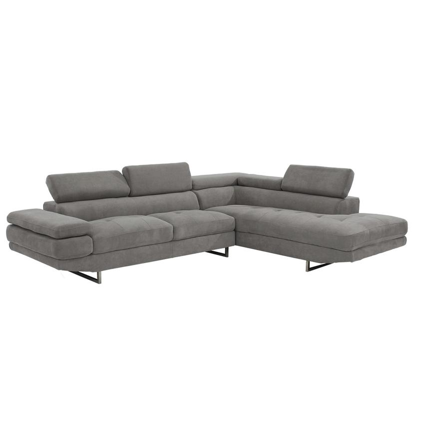 Taheri Gray Corner Sofa w/Right Chaise  alternate image, 2 of 8 images.