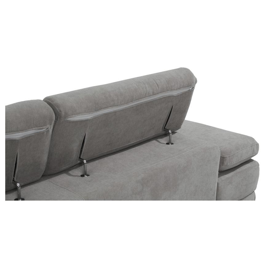 Taheri Gray Corner Sofa w/Right Chaise  alternate image, 7 of 8 images.