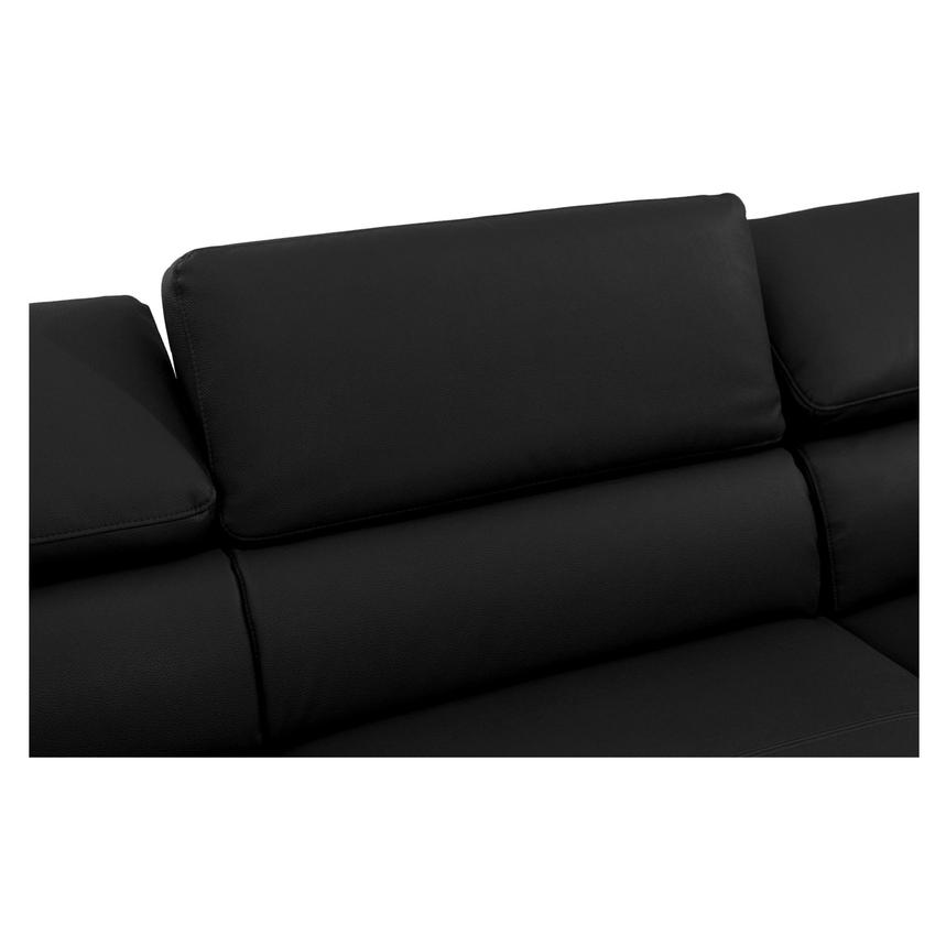 Costa Black Sofa w/Right Chaise  alternate image, 4 of 6 images.