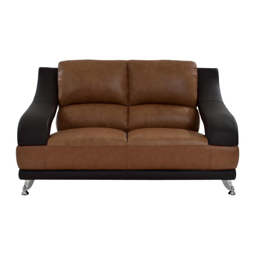 Cool Jedda Camel Leather Loveseat Creativecarmelina Interior Chair Design Creativecarmelinacom
