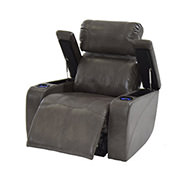 Magnetron Gray Power Motion Recliner  alternate image, 2 of 7 images.