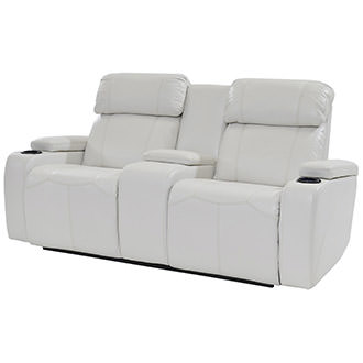 Magnetron White Power Motion Sofa w/Console