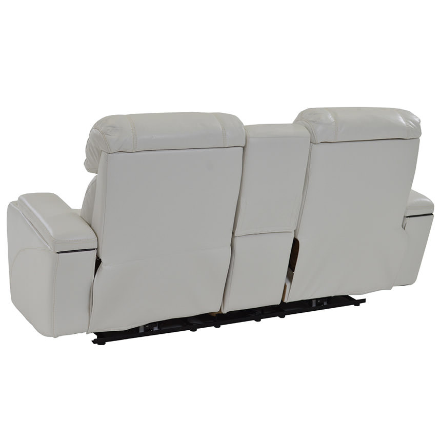 Magnetron White Power Motion Sofa w/Console  alternate image, 4 of 8 images.