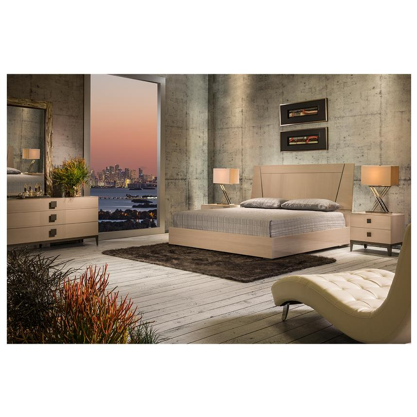 Mont Blanc Gray Queen Platform Bed Made in Italy  alternate image, 3 of 7 images.