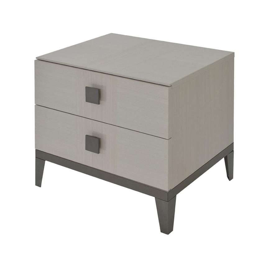 Mont Blanc Gray Nightstand Made in Italy  alternate image, 3 of 8 images.