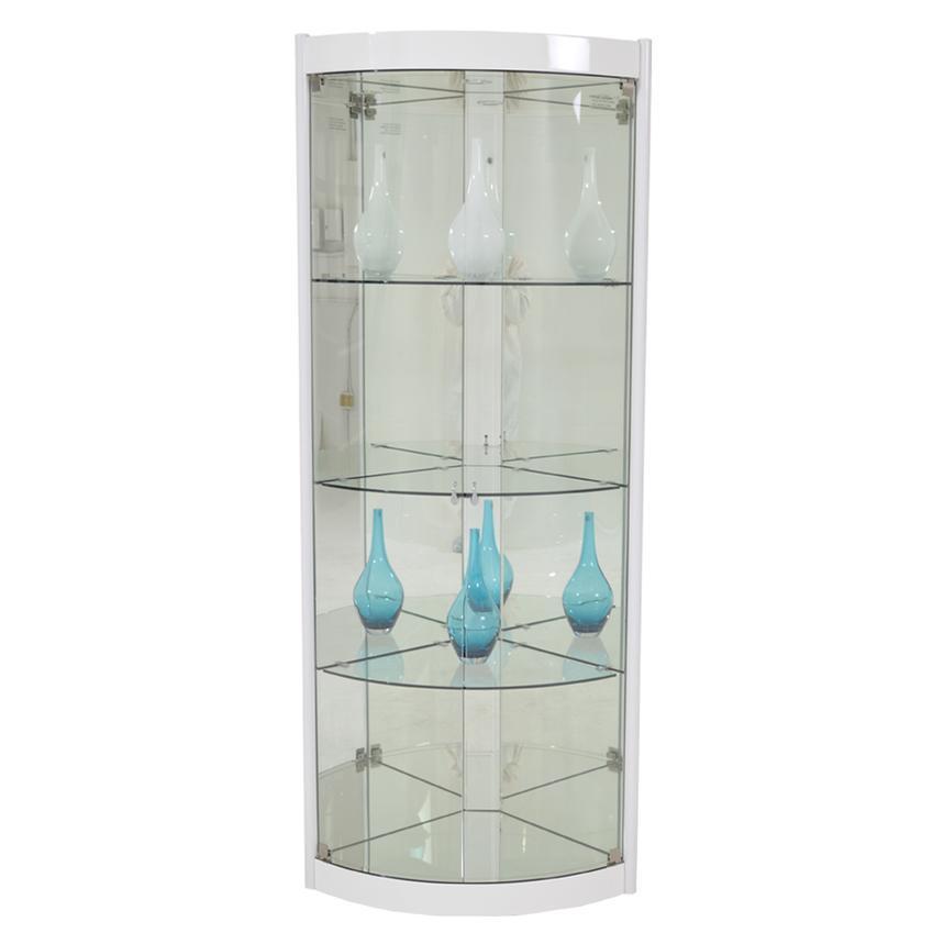 Timney White Corner Curio El Dorado, White Corner Curio Cabinet With Glass Doors