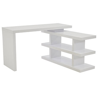 Jax White L-Shaped Desk