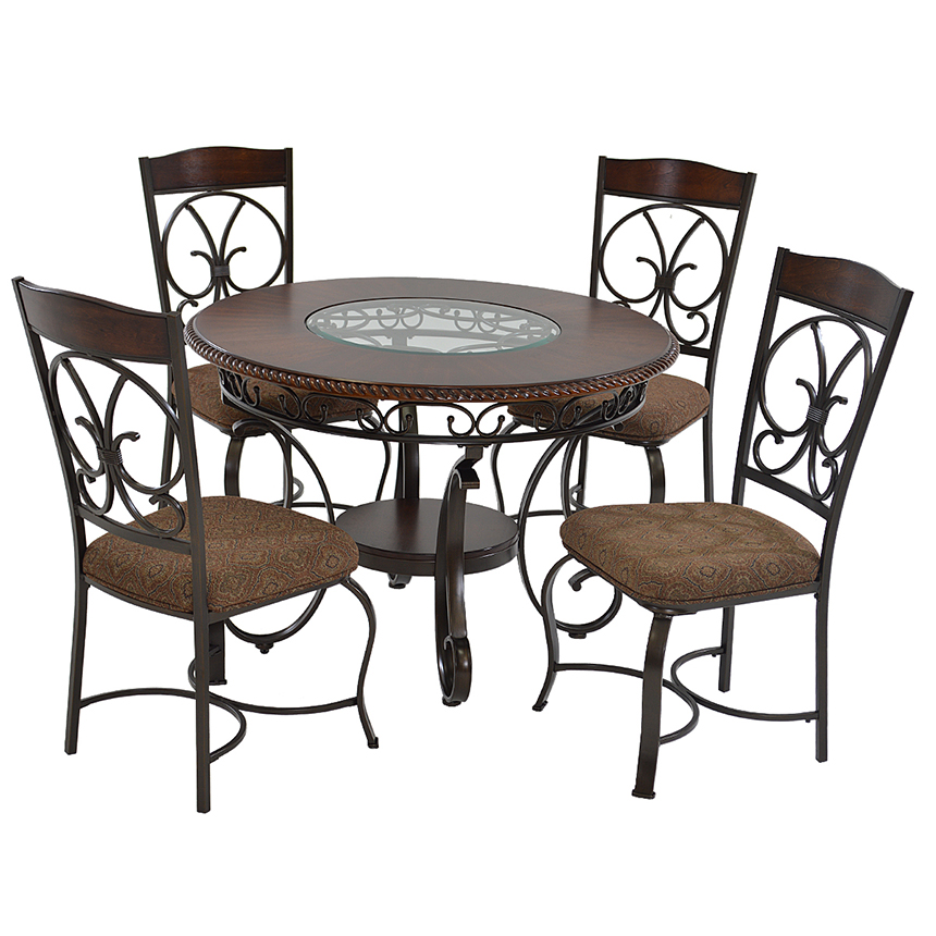 Amazing Glambrey 5 Piece Casual Dining Set Main Image, 1 Of 9 Images.