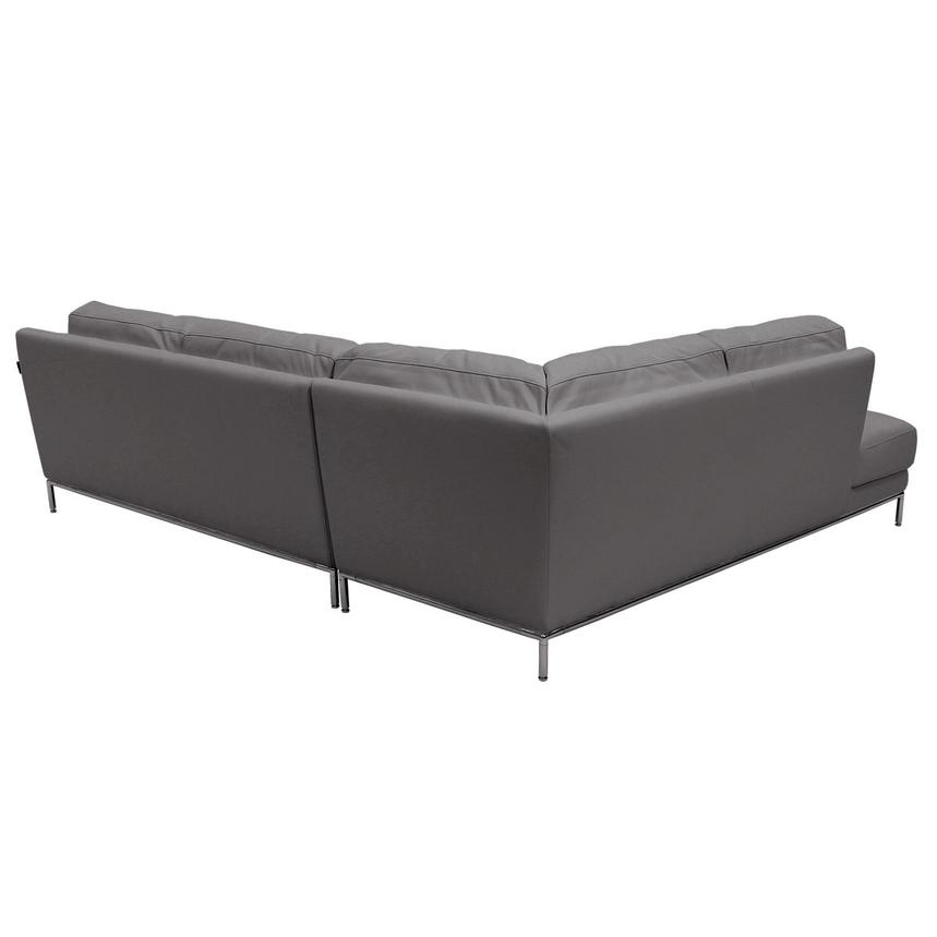 Cantrall Dark Gray Sofa w/Left Chaise  alternate image, 3 of 6 images.