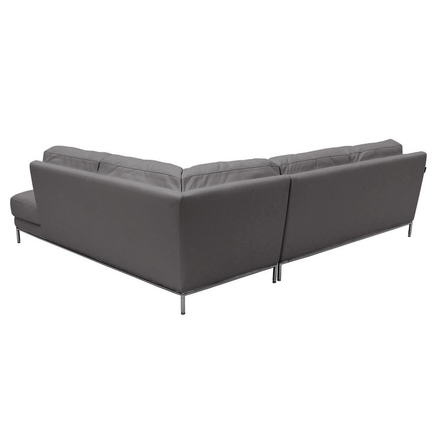 Cantrall Dark Gray Sofa w/Right Chaise  alternate image, 3 of 6 images.