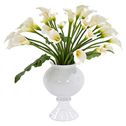 Bouquet of White Lilies Flower Arrangement  main image, 1 of 2 images.