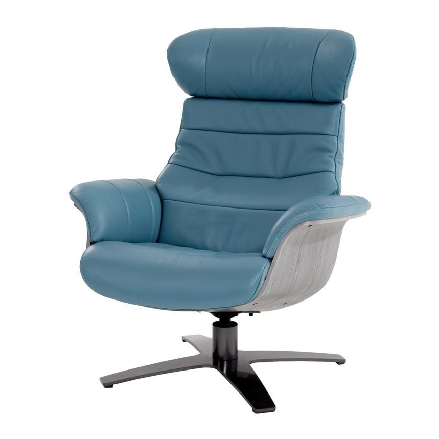 Terrific Enzo Blue Leather Swivel Chair Lamtechconsult Wood Chair Design Ideas Lamtechconsultcom