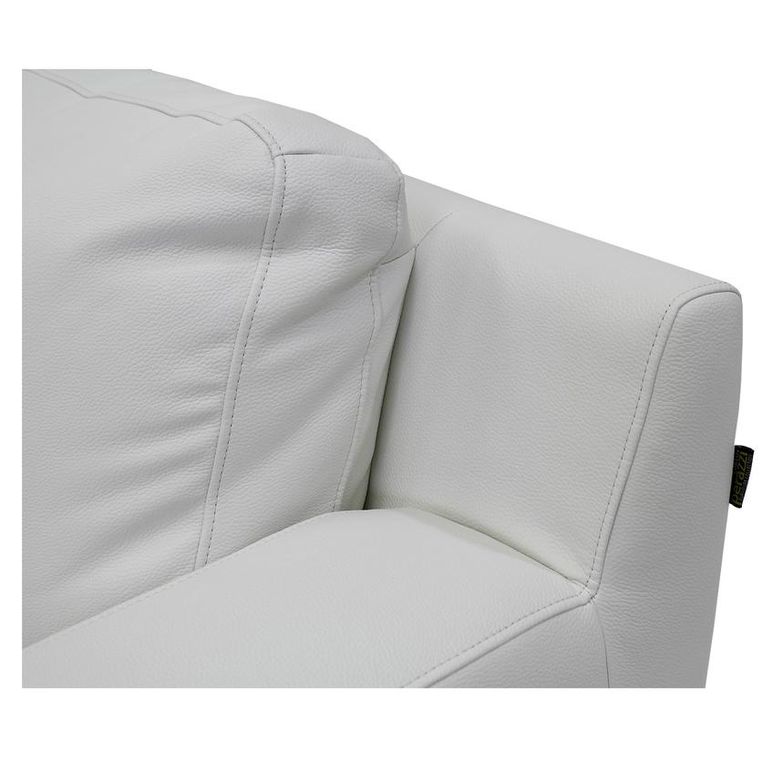 Cantrall White Loveseat  alternate image, 4 of 5 images.