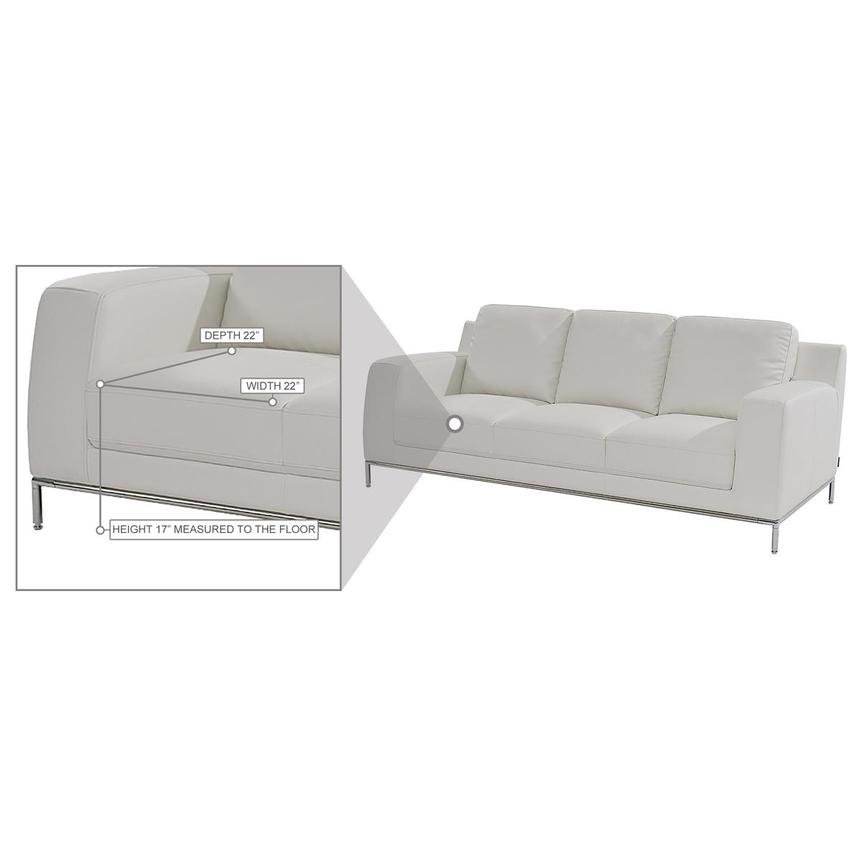 Cantrall White Sofa  alternate image, 8 of 8 images.