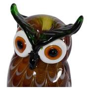 Big Eyes Owl Glass Sculpture  alternate image, 2 of 2 images.
