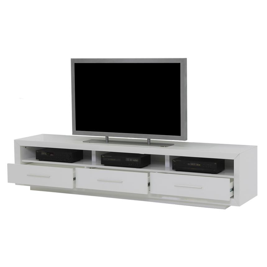 Contour I White TV Stand  alternate image, 3 of 6 images.