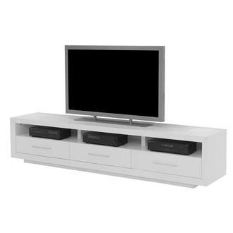 Contour I White Tv Stand