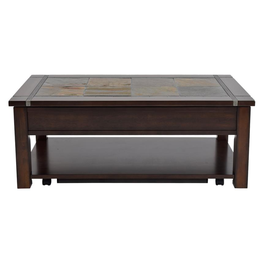 Roanoke Lift Top Coffee Table w/Casters  alternate image, 3 of 5 images.
