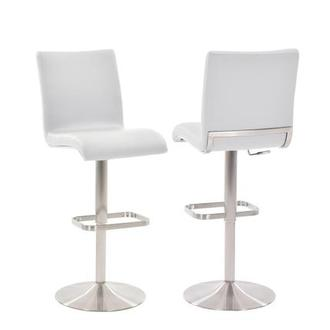 Fogo White Adjustable Stool