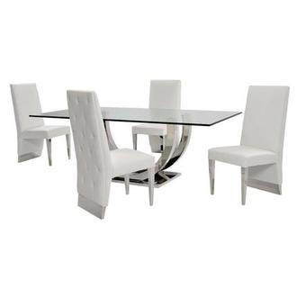 Ulysis White 5-Piece Dining Set