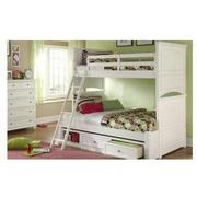 Kailee White Twin Over Full Bunk Bed  alternate image, 2 of 7 images.
