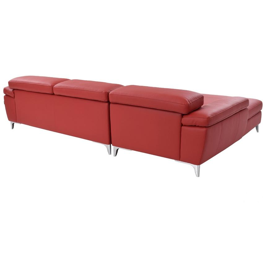 Costa Red Sofa w/Left Chaise  alternate image, 3 of 6 images.