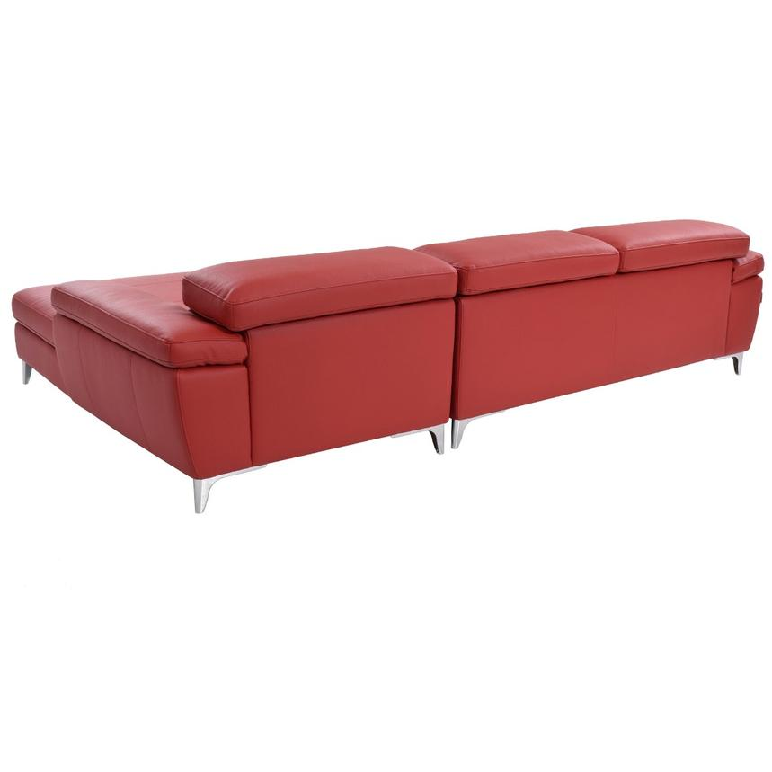 Costa Red Sofa w/Right Chaise  alternate image, 3 of 6 images.