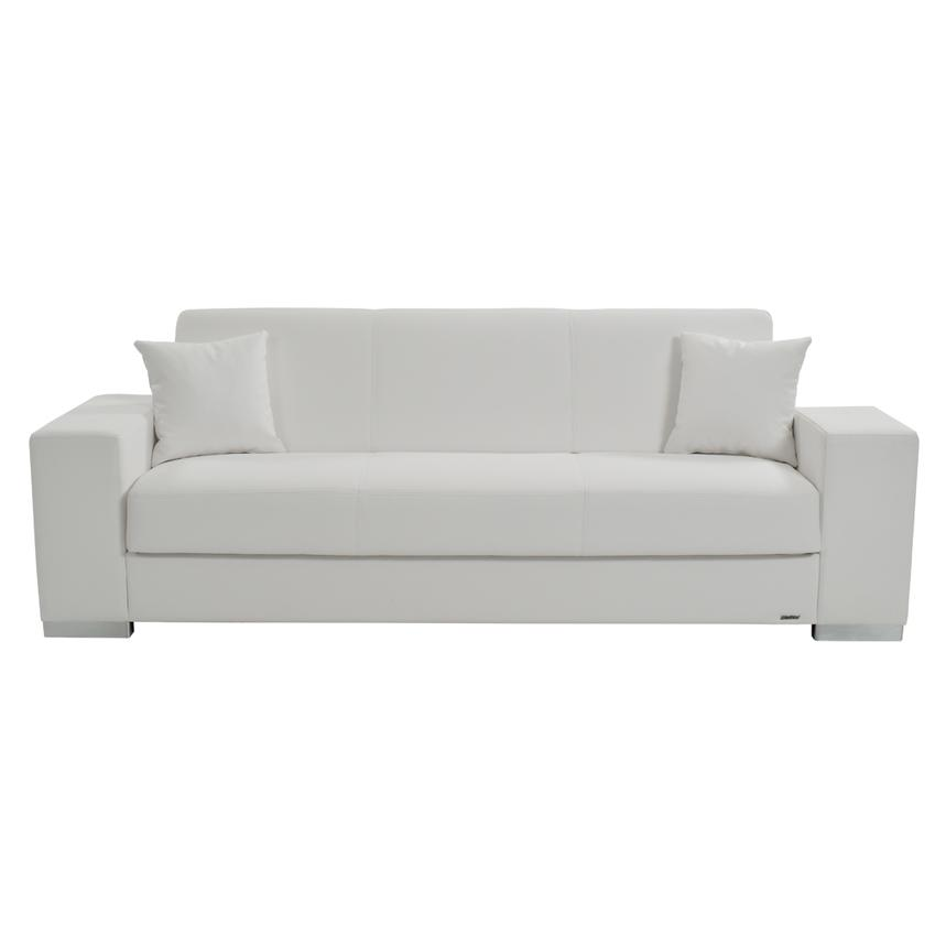Kobe White Futon Sofa  alternate image, 3 of 7 images.