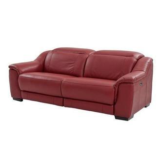 Davis White Power Motion Leather Sofa El Dorado Furniture