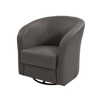 Delia Gray Swivel Accent Chair