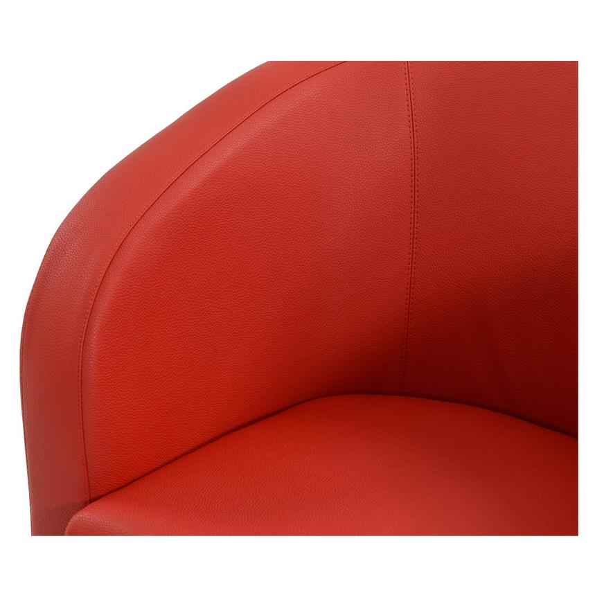 Delia Red Swivel Accent Chair  alternate image, 4 of 5 images.