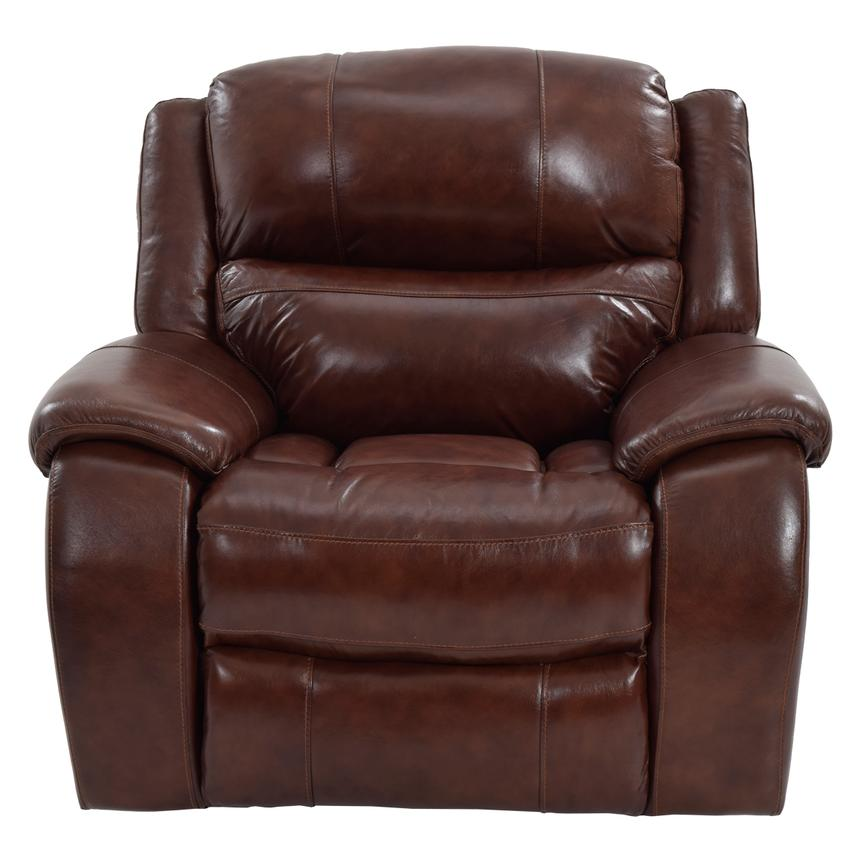 Abilene Leather Glider Recliner  alternate image, 4 of 9 images.