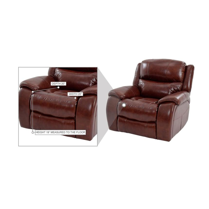 Abilene Leather Glider Recliner  alternate image, 9 of 9 images.