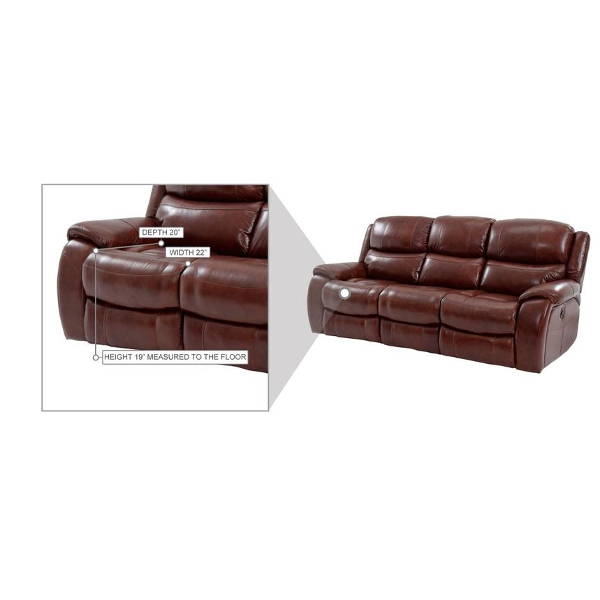 Abilene Leather Power Reclining Sofa  alternate image, 7 of 8 images.