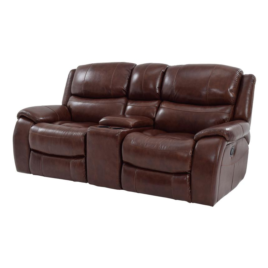 Leather Reclining Sofa With Fold Down Console — 3Design ...