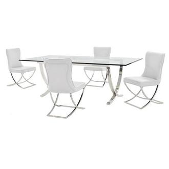Luciele/Amanda White 5-Piece Dining Set